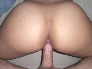 love the VIEW - got my VOTE, cum deeeep in her with your FAT COCK