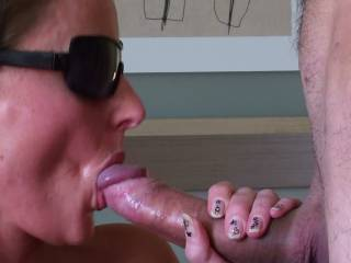 Oh wow that's amazing you look so hot with a big hard cock in your mouth