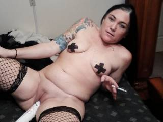 Sexy smoking photo,like to slip my cock deep into your juicy hot snatch mmmmm
