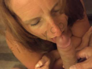 Love the look on her face as she's fed that hot stiff cock!