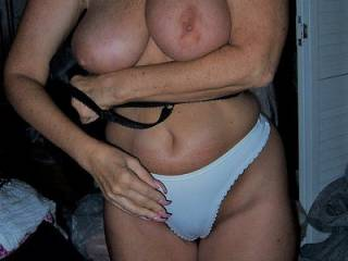 A friend requested a picture of Gina in white panties......hope you like it.........
