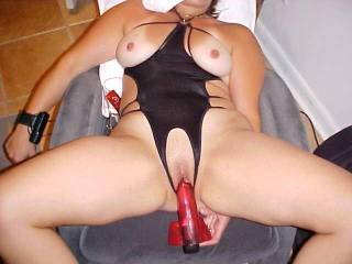 i want put my big cock in your sweet pussy wife's and fuck her hard in this position r u ok ?