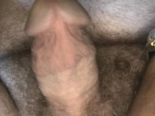 Kind of a different under side view of my hard dick