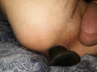 Wanted to see how having  something like a cock in my ass felt like. DAM GOOD .