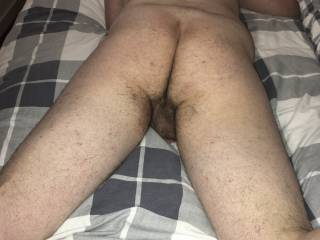 Boy showing hairy ass