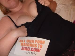 Mmmm! I love sluts!!! Love to cum all over your big tits!!