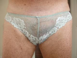 Mmmmm sure I'll pull them down but not before I've kissed and nuzzled you cock through those lovely panties