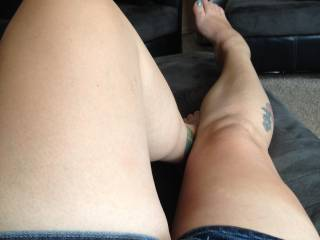 very nice legs and yes, i would nibble and suck on your toes and that is just the beginning