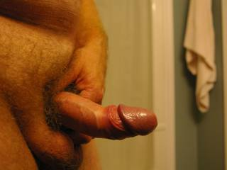 By the looks of your cock my wife won't want to suck it.The head's too small.
