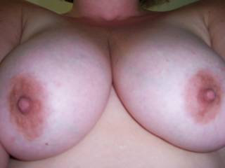 MMMmmmm I just may cover you with my cum and make another video. :-) Sound okay? Maybe you could post a pic of your breasts with my vid in the background. That would turn me on :-) Happy Saturday.