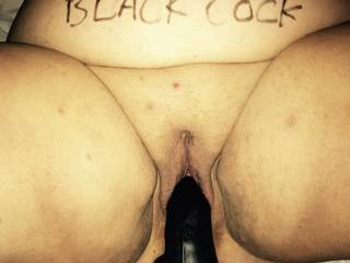 I want black cock. Wanking with my dildo