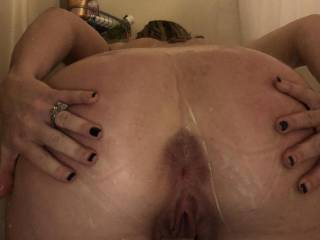 Hubby loves me send him pics when I'm playing in the shower...