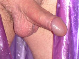 My boyfriend likes to share my PVC Mac this time in the shower !!
