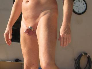 Being in Arizona it\'s great spending time by the pool and sometimes I like to play, like with these cockrings.