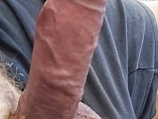 Morning wood, waiting for my wife to return home from a night out. Anyone fancy sucking it