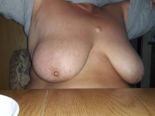 Love these nice big titties, and everything that goes with it! Who wants to have some fun with us?