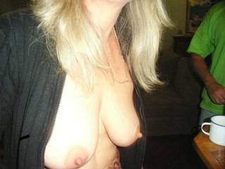 Beautiful tits, of course he's want to grope them .... I do  xooxox peter