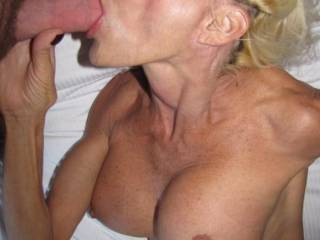 Mind blowing sensuous lips and incedibly talented know just how to use them so erotically taking that big cock deep and the way she enjoys sucking cock anticipating the release of hot cream!