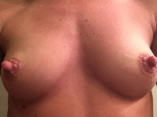 OMG... I LOVE your Breaston and NIPPLES... I would LOVE to Kiss, Lick and SUCK on them... I would also Kneel between your Open Thighs and give you Oral SEX and have CLIMAX  in my Mouth until you are Totally EXHAUSTED... YUMMY...  Love and Kisses, Maryann (05-10-2015)