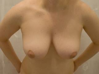 GORGEOUS!  I love to play with them and suck on your nipples.