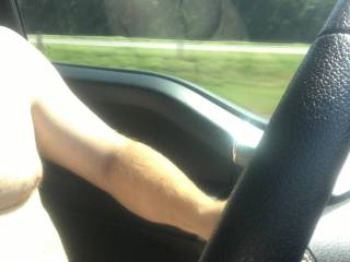 Such a nice, exciting feeling to drive completely naked