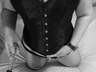 Beginning of a fun Sunday morning,  black and white makes everything look sexy!