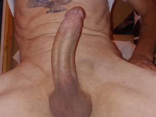 I love getting my cock hard and showing it off do you ladies like?
