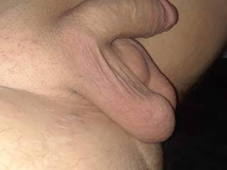 Nice relaxed fat cock and low heavy balls