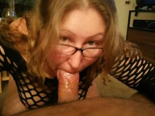Waiting for me to cum down her throat
