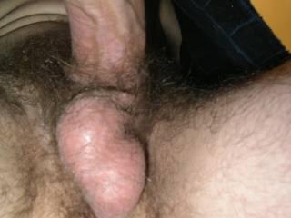 My hard balls, full of jizz still...