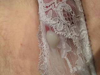 Looks nice, and like the creamy load you dumped in them.  Wish I could do that to them too.  I love to cum in panties.