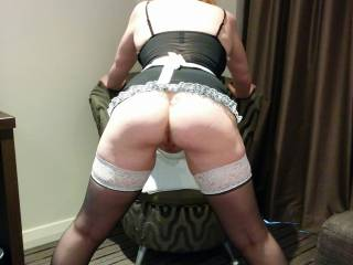 So you walk into the hotel room and see...................