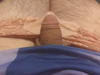 pulling the little guy out of my panties to play for a little before bed