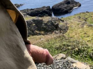 Letting the ocean breeze fan my cock on a nice day.