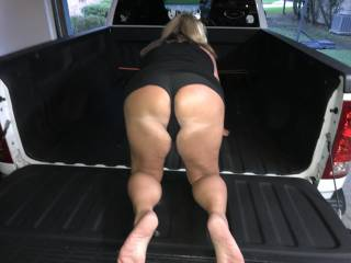 sexy wife bed of truck