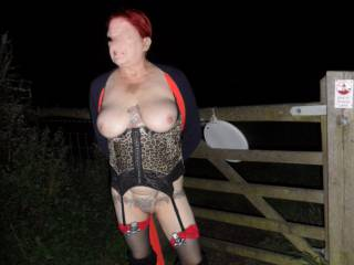 Hi  managed to grab a few pictures by the gate hope you like them comments welcome mature couple