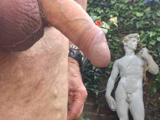 Getting horny outside in the sun again but by my self. ?