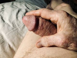 Swollen penis after orgasm, feels so good, love to squeeze.
