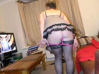 and the knickers finally come off - who likes my bum?