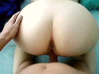 Great view of you getting fucked. Lovely pussy and ass.