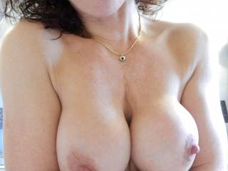 Gorgeous nipples to suck and I love licking pussy and I'd give you an intense orgasm, then more sliding my thick cock in your pussy for an hour or two (my cock stays hard even though I'm a 75 year old athletic six footer)
