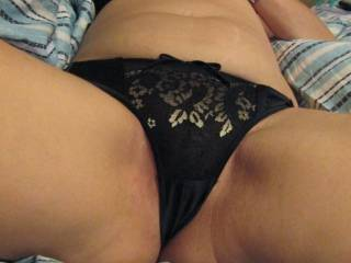 Showing hubby my new lingerie
