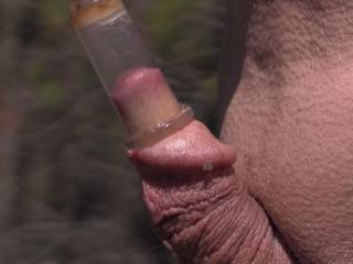 Used my nipple cylinder to suck my cock tip ! When i pulled it off my cum hole lips were all swollen and puffy ! Just wanted to lick and suck on them !
