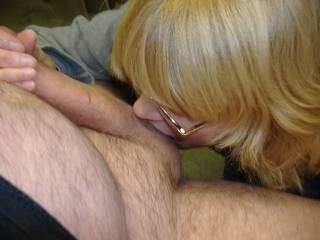 My tenant giving my balls a good licking