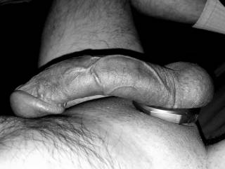 New cock ring in black and white