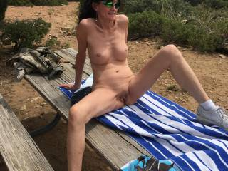just getting to spend some nude time in the mountains...showing off