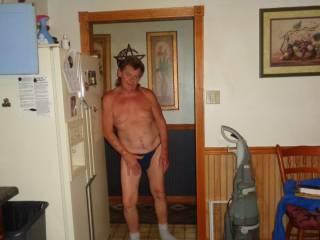 waiting in the door way.  Cum see me thru back door!