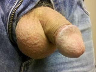 Freshly shaven balls feel so good.