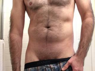 Getting ready to shower as it warms up. Any beautiful horny women care to join me for some good wet fun. As we get dirty cleaning ourselves.
