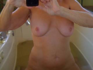 selfie in the tub